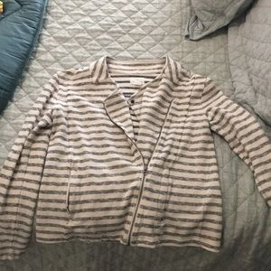 Striped Moto jacket by Caslon size L